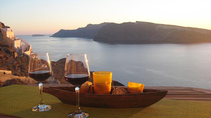 santorini oia sunset wine ps 2