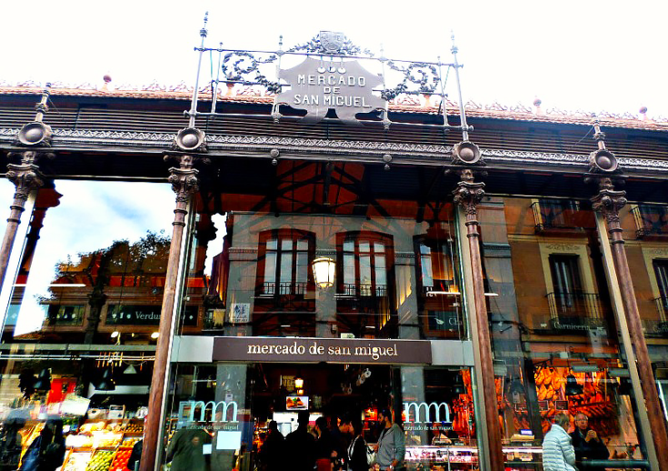 mercado san miguel madrid spain market outside