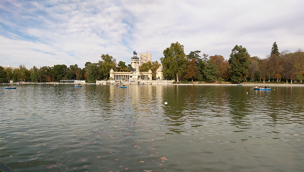 retiro park madrid spain boats