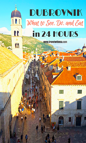 DUBROVNIK IN A DAY - Travel with Mia