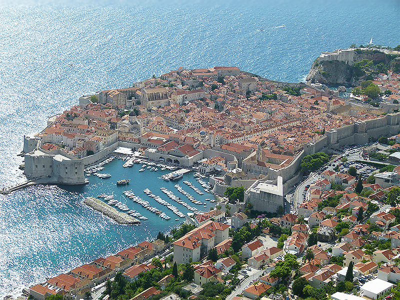 dubrovnik croatia from mt srd city view ps