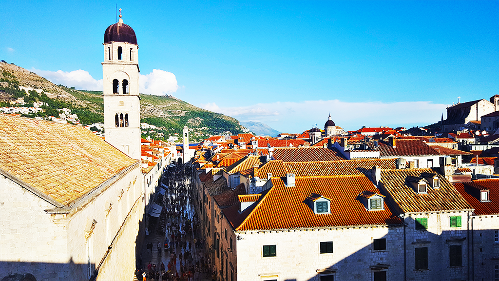 dubrovnik croatia stradun from city walls