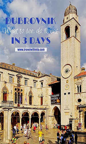 Croatia: Dubrovnik in 3 days - What to See, Do, and Eat. Travel with Mia