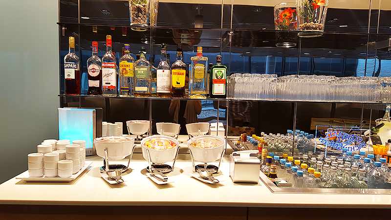 Lufthansa Business Class Lounge Frankfurt - Travel with Mia - Spirits