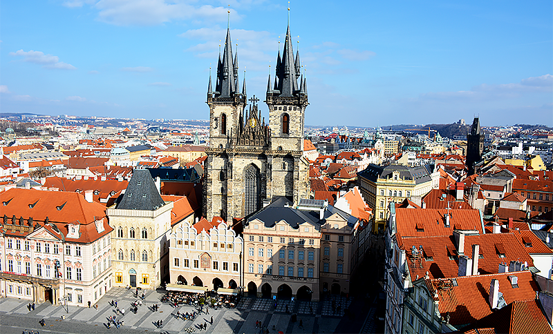 prague old town square - travel with mia - Prague in 2 days