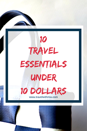 Travel with Mia - 10 travel essentials under 10 - Bag Pin Me S