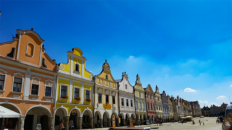 Travel with Mia - Hidden Gem Czech Republic Telc - Bhurger Houses - city in the czech republic