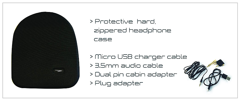 Solitude Headphones WX1 Case with Specs - Travel with Mia 2